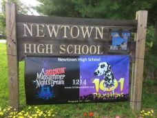 Newtown High School, photographed by Producer, VAN DEAN