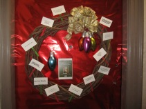 "Our ""Occupy Wall Street"" Wreath filled with miniature protest signs and political statements"