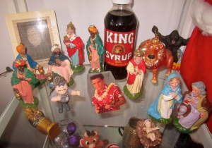 "My ""King of Kings"" Display, featuring ASLAN, ELVIS, CORETTA SCOTT, KONG, and TUT..."