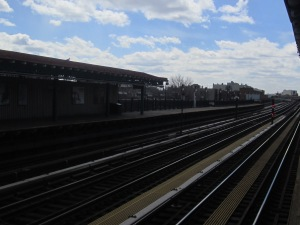 The view from a Subway Platform earlier this week