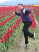 And here I am Tiptoeing through the Tulips in Skagit Valley