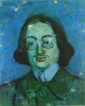 Portrait of Jaime Sabartes by Pablo Picasso, 1901 Blue Period