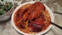 Mom likes her Lobster Marinara