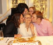 A Birthday Kiss from the GrandChildren