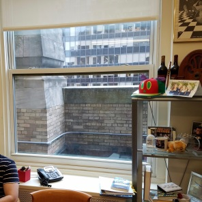 Happy with out New Space! ...And we can even hop out that window, and enjoy the terrace view!